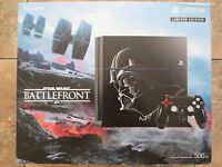 Sony PlayStation 4 Star Wars Battlefront Limited Edition 500GB Jet Black Console Video Game Consoles