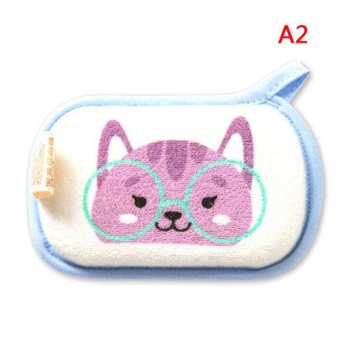 1PC cute cartoon baby bath brush soft bath sponge baby shower sponge EP