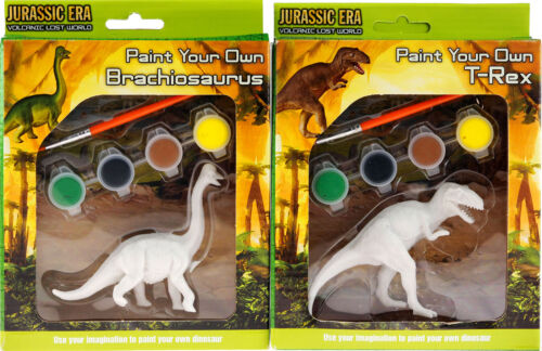 Set Of 2 Mini Packets - Paint Your Own Dinosaur Craft Model Kit