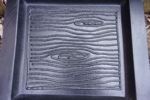 """Concrete Log stepping stone mold abs plastic mold 11.5/"""" x 11.5/"""" x 1.25/"""" thick"""