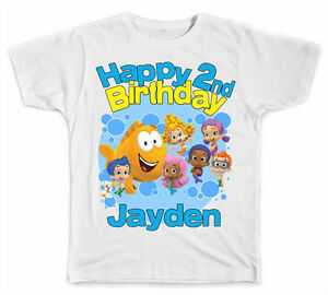 Image Is Loading Personalized Bubble Guppies Birthday Boy T Shirt