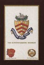 Military GLOUCESTERSHIRE REGIMENT Coat of Arms & Badges c1900/10s? PPC