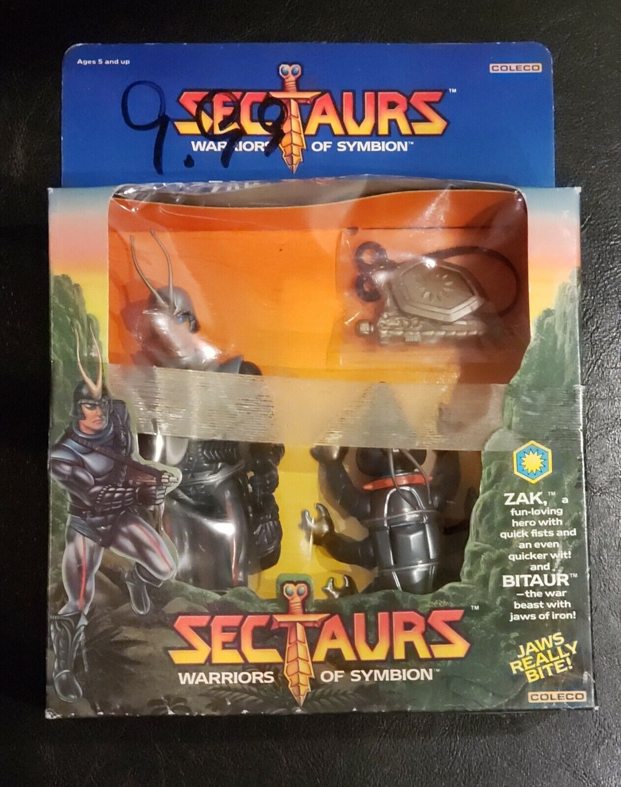 Coleco Sectaurs Warriors of Symbion Zak and Bitaur Vintage 1984 Sealed New