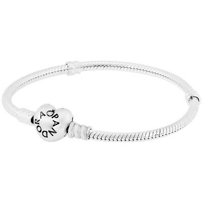 Pandora Moments Silver Bracelet With Heart Clasp 59071919 5700302279696 Ebay