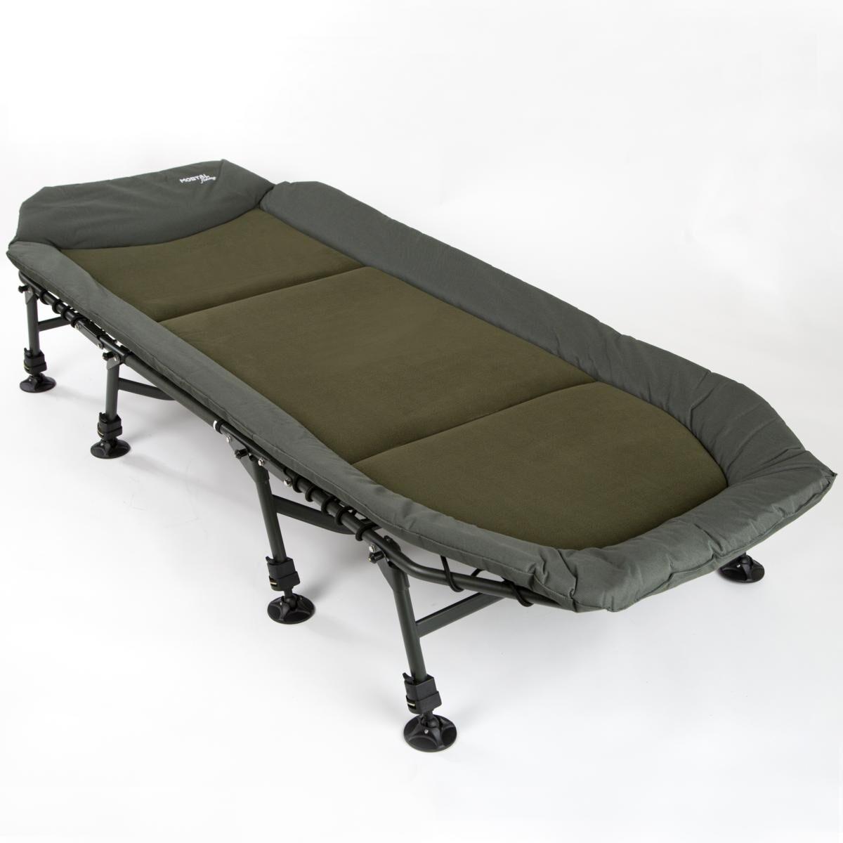 Mostal Kingsize Karpfenliege 8-Bein Flat Angelliege Gästebett Anglerliege Bett