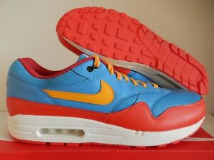 Details about NIKE AIR MAX 1 ID BLUE RED YELLOW SZ 14 MESH TOE! [943756 995]