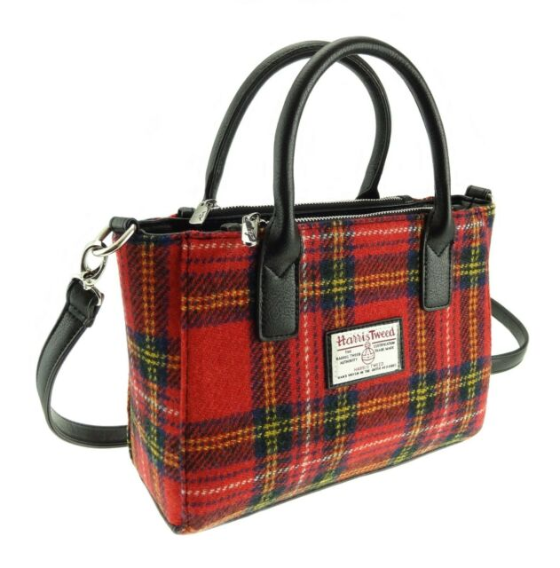 AUTHENTIC HARRIS TWEED MINI BACKPACK TUMMEL ROYAL STEWART RED TARTAN GLEN APPIN