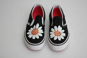 0a6d664b66 Vans Kids  Flower Petals  Slip On Sneaker- Black   Paradise Pink ...