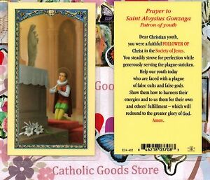 Details About Saint Aloysius Prayer To St Aloysius Gonzaga Laminated Holy Card