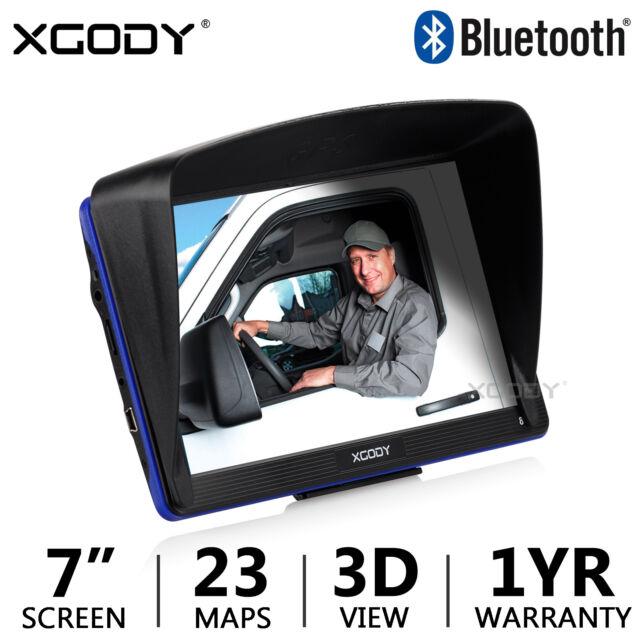 "XGODY 886 7"" TRUCK Car GPS Navigation Navigator 256+8GB System FM Free Maps"
