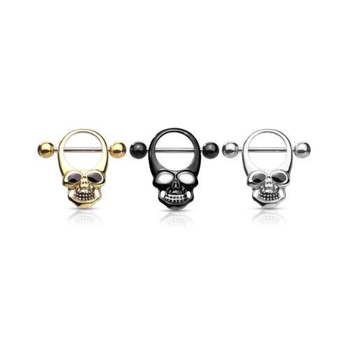 Pendant Piercing 16mm Skull Shield #793 Nipple Piercing