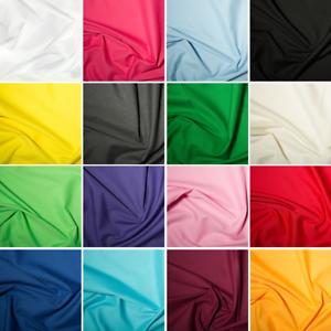Plain-Polycotton-Fabric-FAT-QUARTERS-Bundles-Dress-Craft-White-Black-Red-Solid