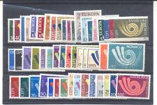 Europa - Année 1973 complète ** - 24 pays - 50 valeurs