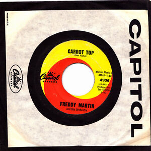 FREDDY-MARTIN-IT-S-TIME-FOR-LOVE-CARROT-TOP-SINGLE-7-034-VINYL-NO-COVER-USA