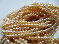 "AAA Quality Natural Pearl Beads Pink Beads , Size 4mm 16"" Strand, FREE SHIPPING"