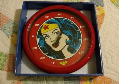 NJ Croce Wonder Woman Face Indoor//Outdoor Thermometer