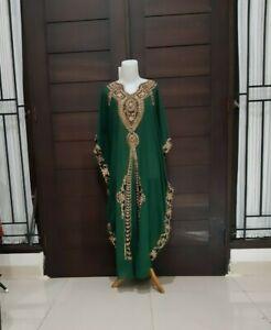 kaftan-lace-maxi-dress-bottle-green-gold-maternity-dress-plus-size