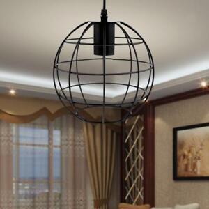 Pendentif-en-forme-de-boule-Vintage-Lampshade-Ampoule-porte-caisse-w-Wire