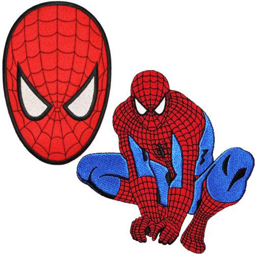Aufnäher A XXL Spiderman 13,5 cm * 20,2 cm Bügelbild Set: Bügelbilder 2 tlg