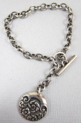 Vintage 1940's Sterling Silver Victorian Style Scr