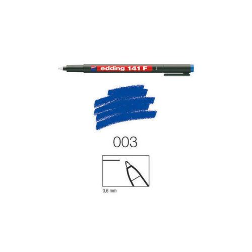 blau 0,6mm Rundspitze Edding 141 F perm.