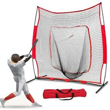 Baseball Softball Practice Hitting Batting Training Net 7x7 FT Bow Frame W/bag