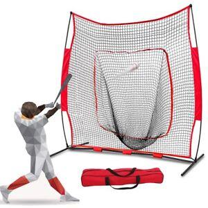 7x7Ft-Bow-Frame-Baseball-Softball-Teeball-Practice-Batting-Training-Net-W-Bag