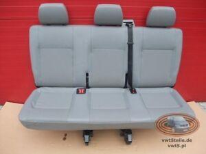 Bench-rear-triple-seat-VW-T5-Transporter-leatherette-Artificial-leather