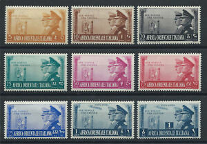 Afrique-Orientale-Italienne-N-36-42-et-PA-20-21-MH-1941