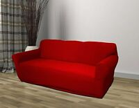 Red Jersey Sofa Stretch Slipcover, Couch Cover, Furniture Sofa, Kashi Home