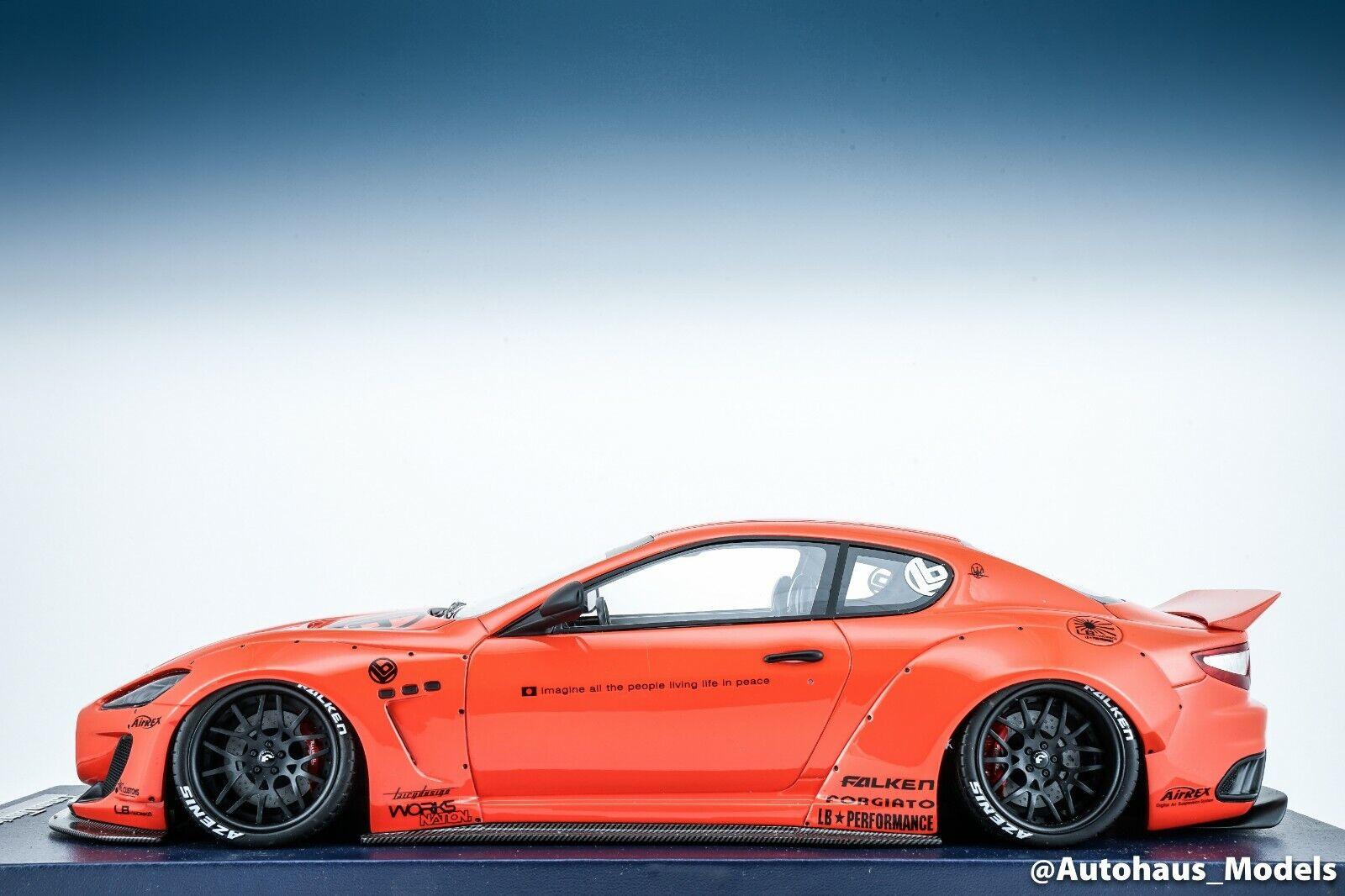 1 18 Modelos lb rendimiento Maserati GranTurismo ab Liberty Walk rosso