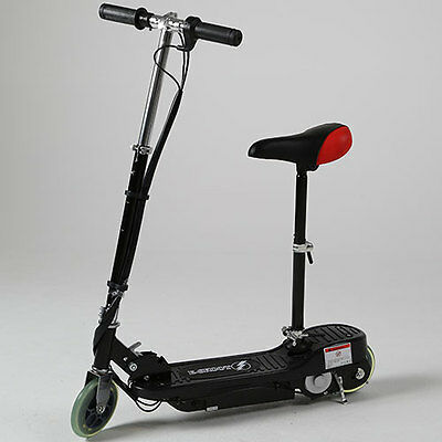 Electric Scooter Black Kids E Escooter Adjustable Battery Operated Powered Toy