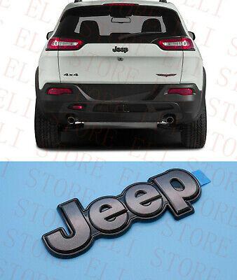 2014-2018 Jeep Cherokee Gray Rear Liftgate Emblem Badge Nameplate Oem Mopar