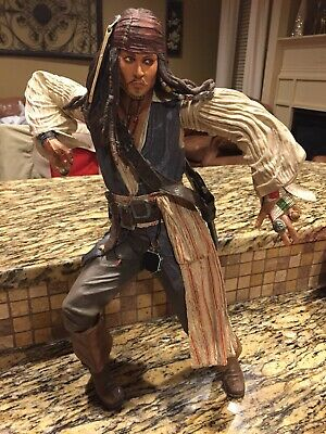 "NECA Pirates of Caribbean At World's End Jack Sparrow 18/"" Figure W// Sound"