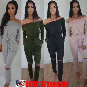 Womens-Clubwear-Sexy-Playsuit-Bodycon-Party-Jumpsuit-Romper-Trousers-Long-Pants