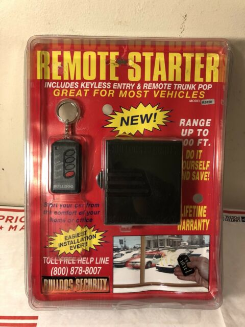 bulldog security remote control car starter 400' range w manual kit model  rs122