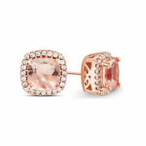 18k-Rose-Gold-Pave-Morganite-Created-Stud-Earrings-with-Swarovski-Crystal-ITALY