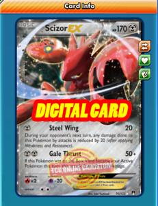 PTCGO, Digital Card Scizor EX 76//122 for Pokemon TCG Online