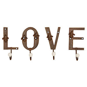 034-Letras-Gancho-Amor-034-4-SOLO-HIERRO-FUNDIDO-de-la-pared-para-ropa