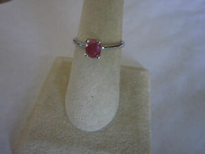 Gorgeous-Single-Stone-Sterling-Silver-Ruby-Ring-Real-Ruby-925-silver-size-6