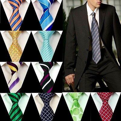 Men's Neck Tie 100% Silk Groom Wedding Party Handmade Ties Necktie FS28-54
