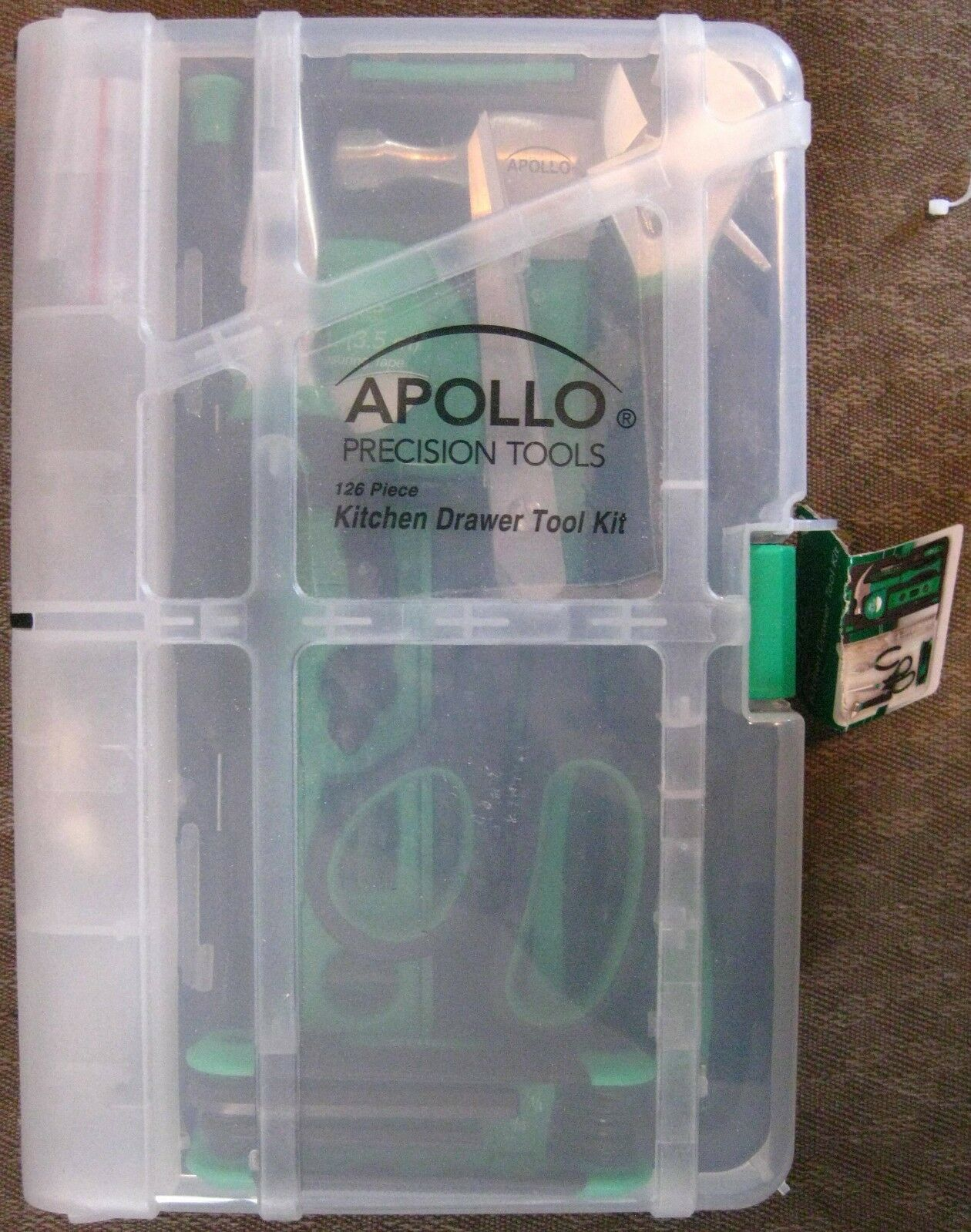 Apollo Precision tools 126  piece Kitchen Drawer Tool Kit in Storage Case NEW