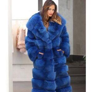 Details about Women's Luxury Hooded Faux Fur Jacket Winter Warm Long Parka Plush Outwear Coats