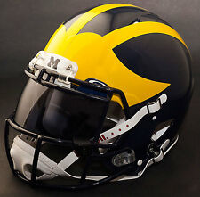 546811e1 *CUSTOM* MICHIGAN WOLVERINES Riddell SPEED Full Size Replica Football Helmet
