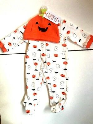 NWT CARTERu0027S JUST ONE YOU PUMPKIN GHOST MY 1ST HALLOWEEN OUTFIT INFANT HAT  NB | EBay