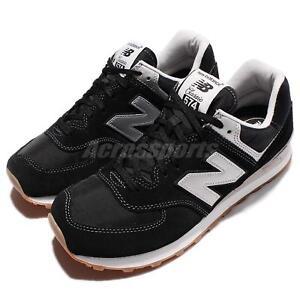 New Balance ML574HRM D Suede Black Silver Gum Men Running Shoes ML574HRMD