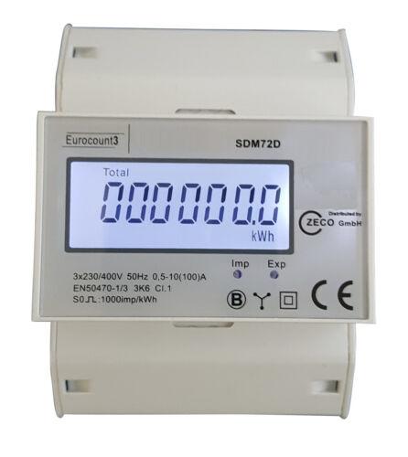 Contatore di Corrente Porto Franco Trifase Contatore s0 LCD 100a Per Hutschiene DIN Digital