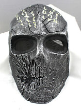 Airsoft Paintball Mask Full Face Protection Skull Mask Prop Halloween M0795