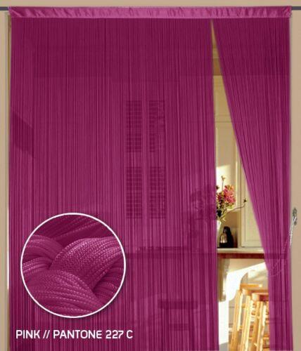 Fadenvorhang Vorhang Fadenstore Fadengardine 150 cm x 300 cm pink KAIKOON