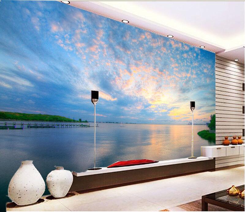 3D Sonnenuntergang Wolken 95 Tapete Wandgemälde Tapete Tapeten Bild Familie DE  | Schöne Farbe  | Stilvoll und lustig  | Angenehmes Aussehen